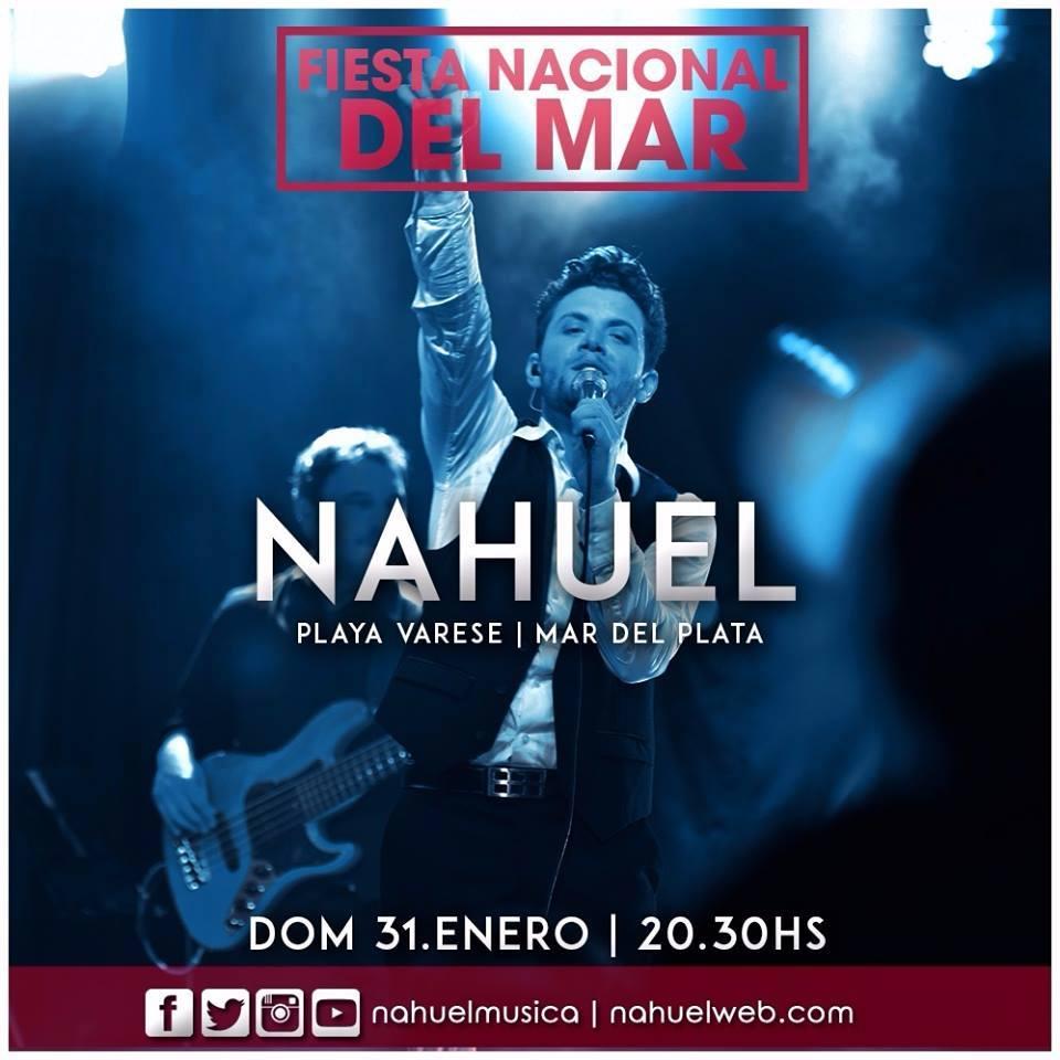 Nahuel cantará en la Fiesta Nacional del Mar