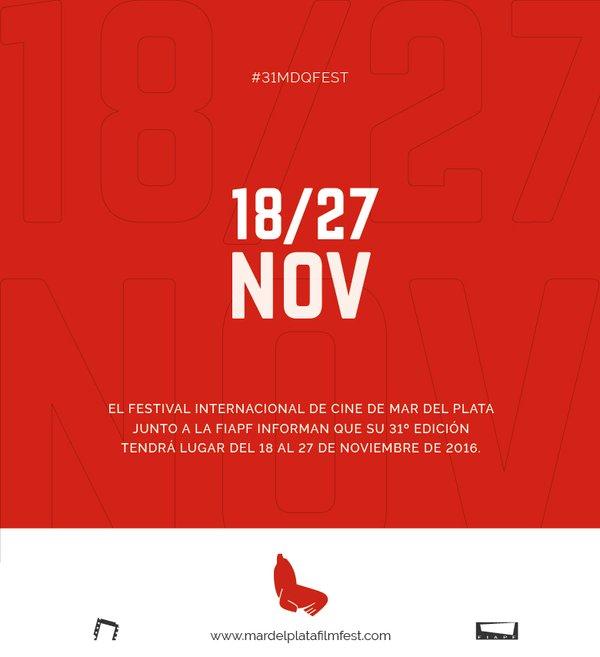 El 31º Festival Internacional de Cine de Mar del Plata tiene fecha