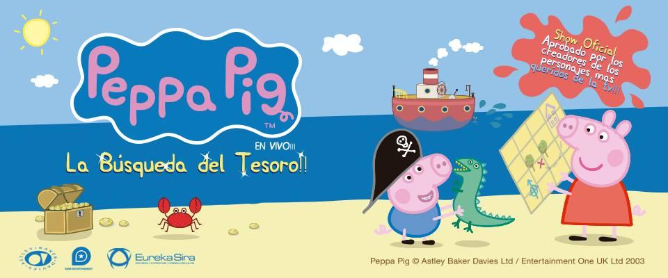 """Peppa Pig llega con su show oficial: """"La búsqueda del tesoro"""""""