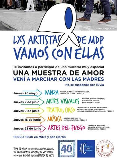 """Los artistas de Mar del Plata """"Van Con Ellas"""""""