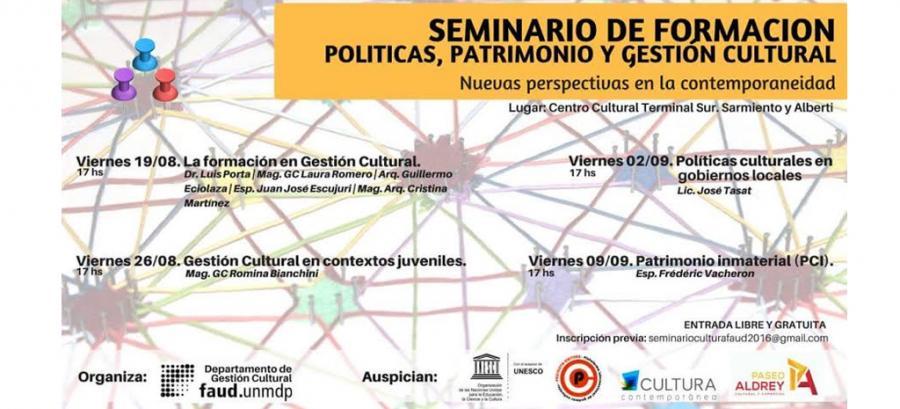 Seminario de Formación en Política, Patrimonio y Gestión Cultural