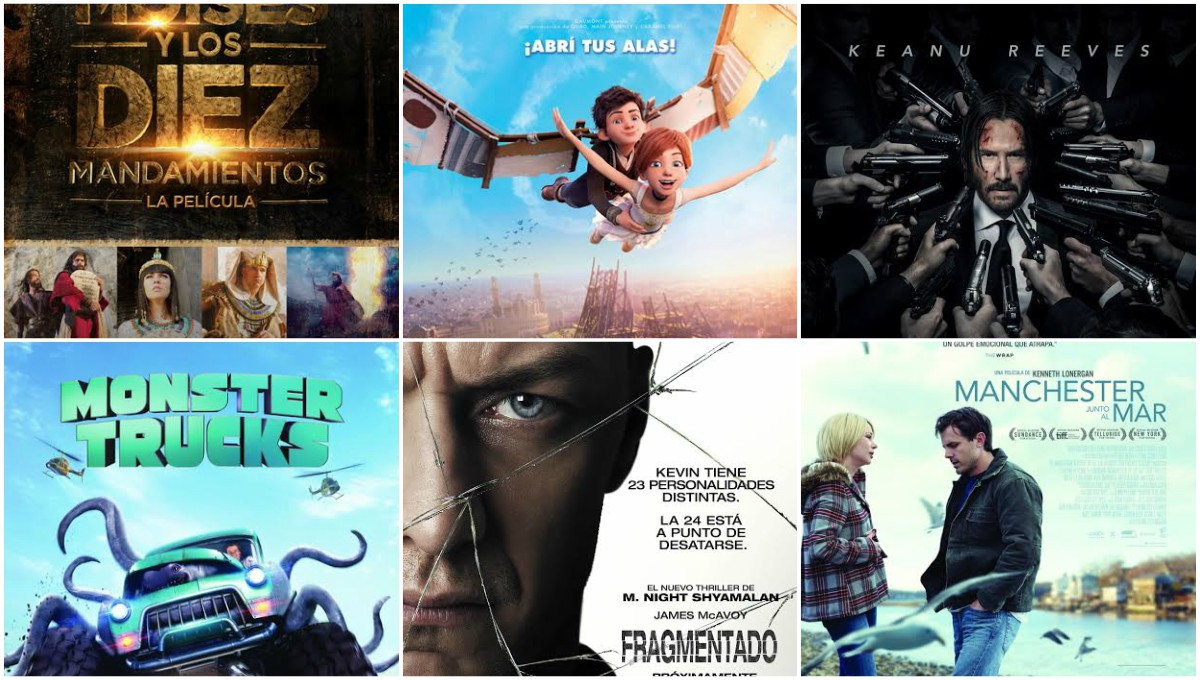 Seis estrenos renuevan la cartelera