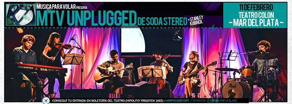 """Música para Volar """"Unplugged"""" regresa a Mar del Plata"""