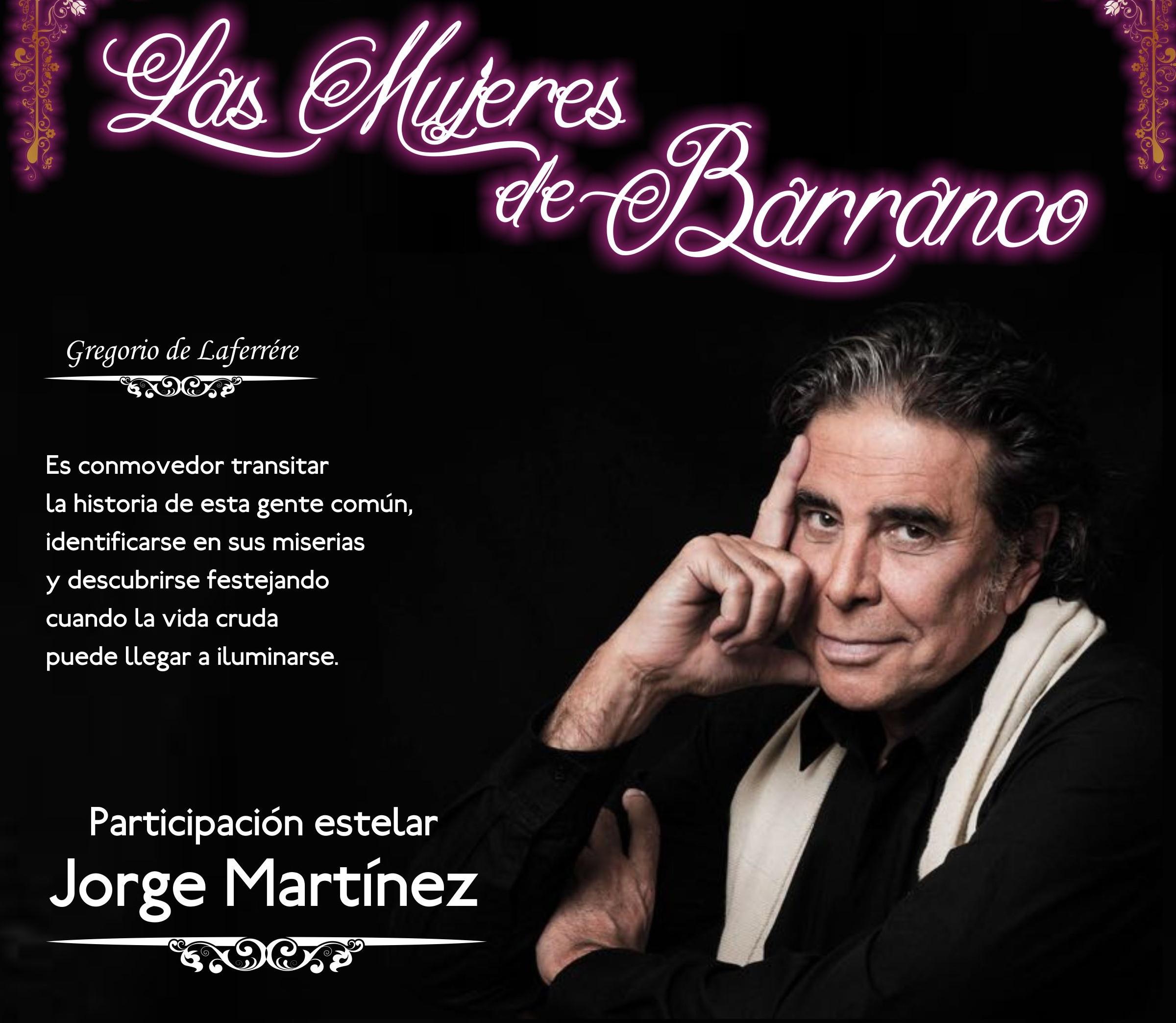 """Jorge Martínez se suma a artistas marplatenses en """"Las mujeres de Barranco"""""""