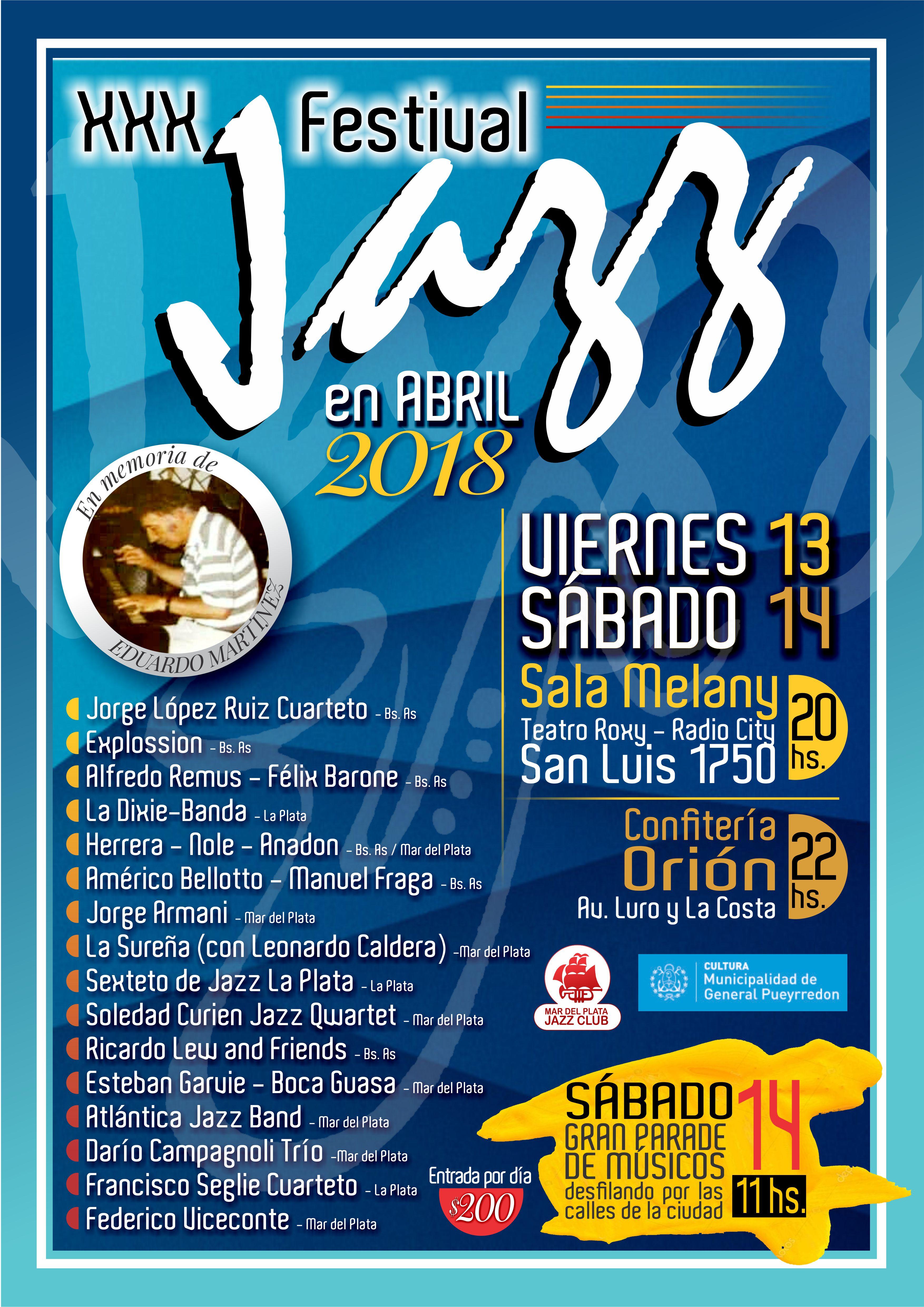 """Llega el """"Festival Internacional de Jazz en Abril"""""""