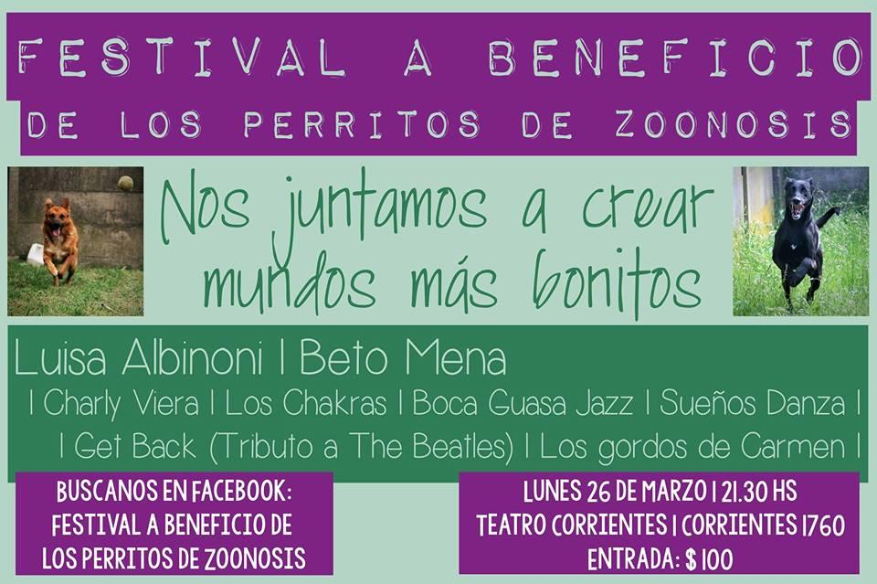 Festival a beneficio de Zoonosis