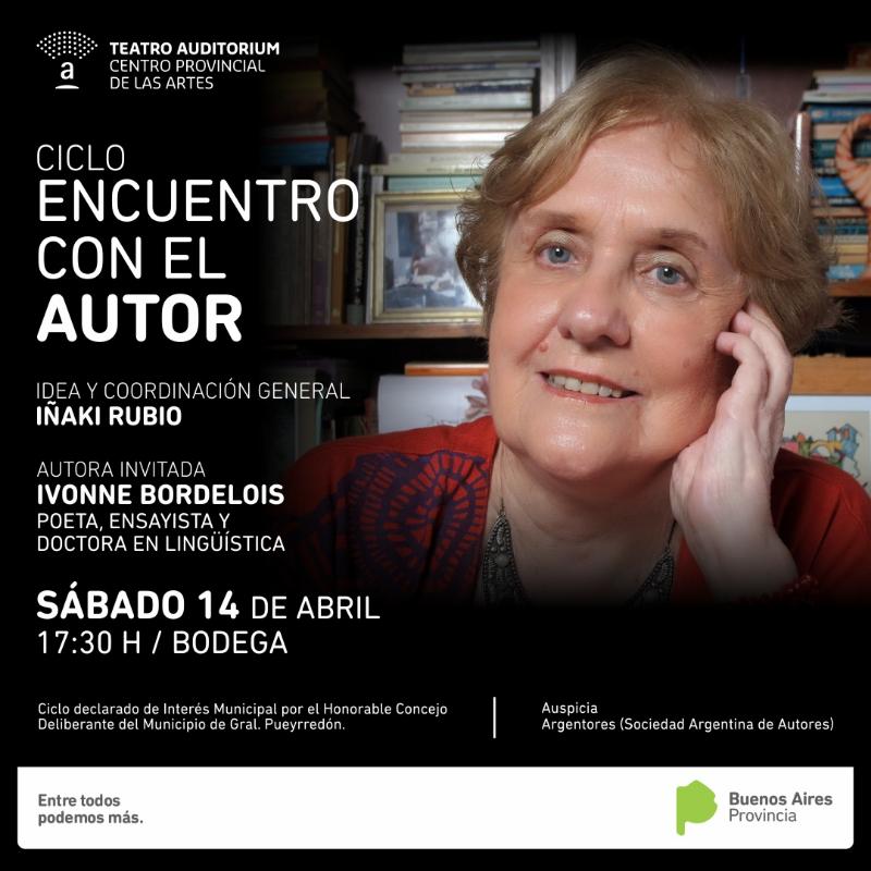 """Ivonne Bordelois en el ciclo """"Encuentro con el Autor"""""""