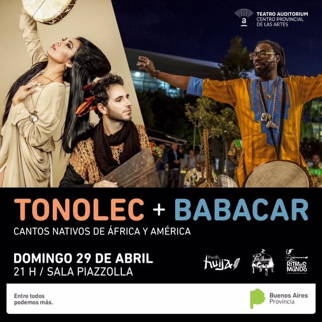 Babacar y Tonolec juntos en el Teatro Auditorium