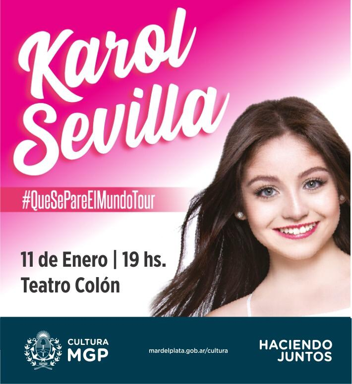 """La mexicana Karol Sevilla llega con su tour """"Que se pare el mundo"""""""
