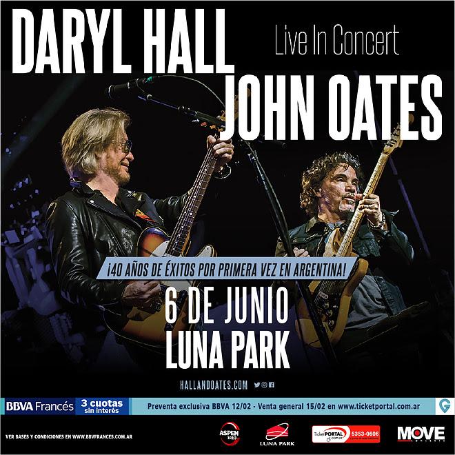 Daryl Hall y John Oates por primera vez en Argentina