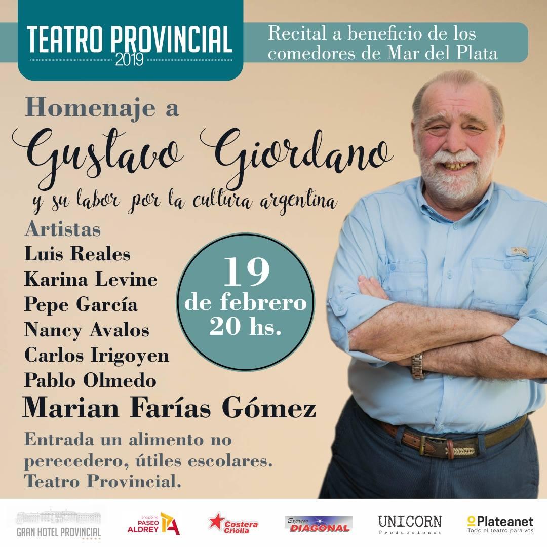 Festival solidario en homenaje a Gustavo Giordano