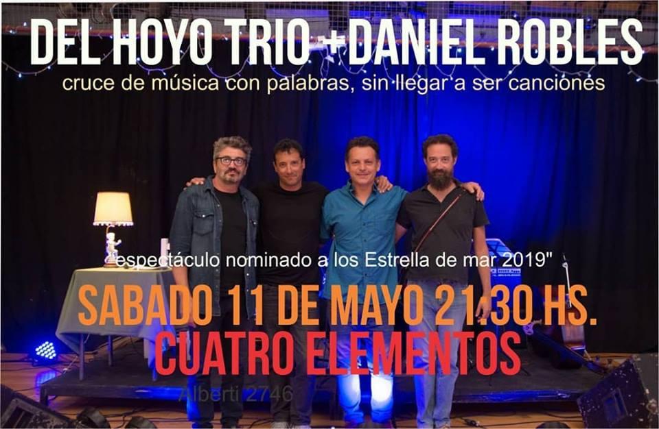 """Del Hoyo Trío y Daniel Robles con """"Música + palabras"""""""