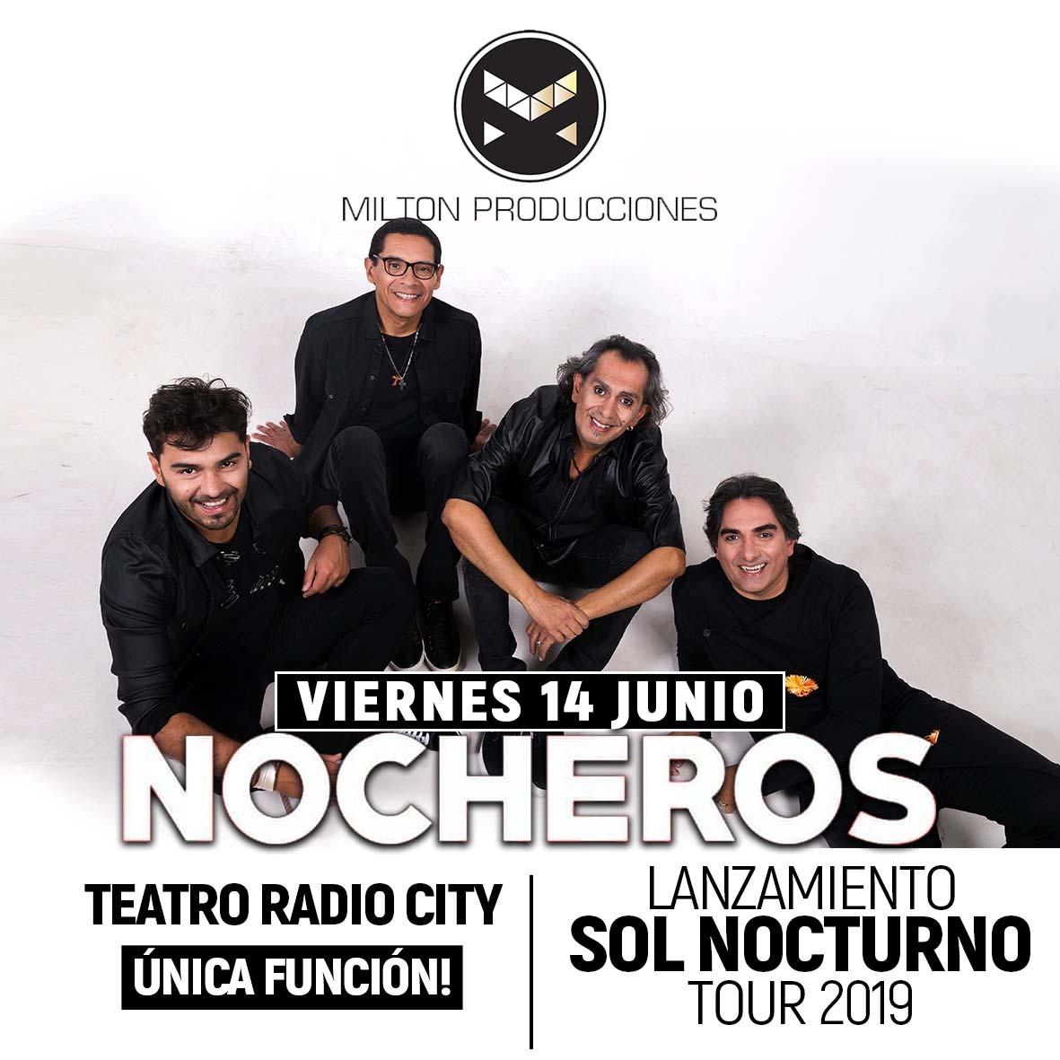 """Los Nocheros presentan en Mar del Plata """"Sol Nocturno Tour 2019"""""""