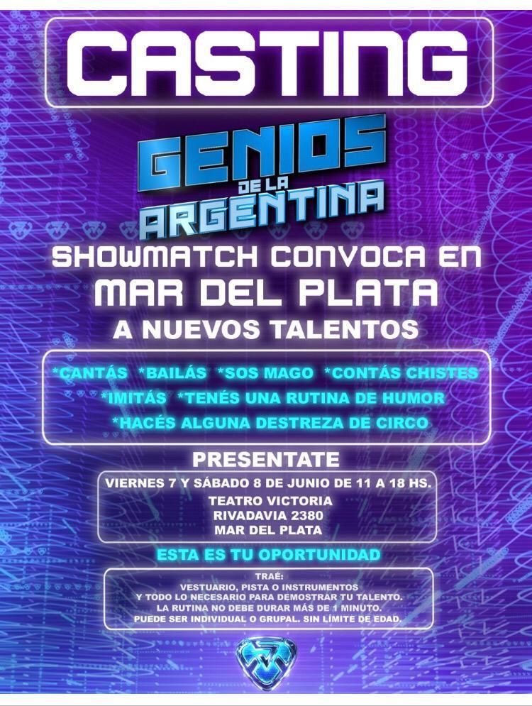 """Casting de """"Genios de la Argentina-ShowMatch"""" en Mar del Plata"""