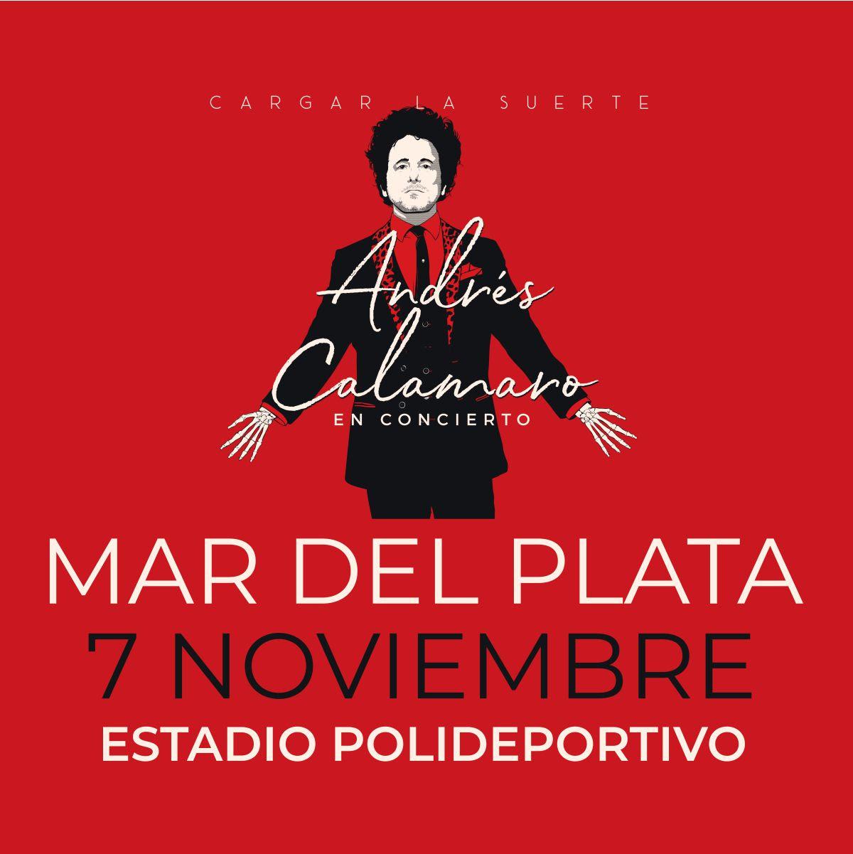 Andrés Calamaro llega a Mar del Plata en el tramo argentino de su gira Cargar la Suerte