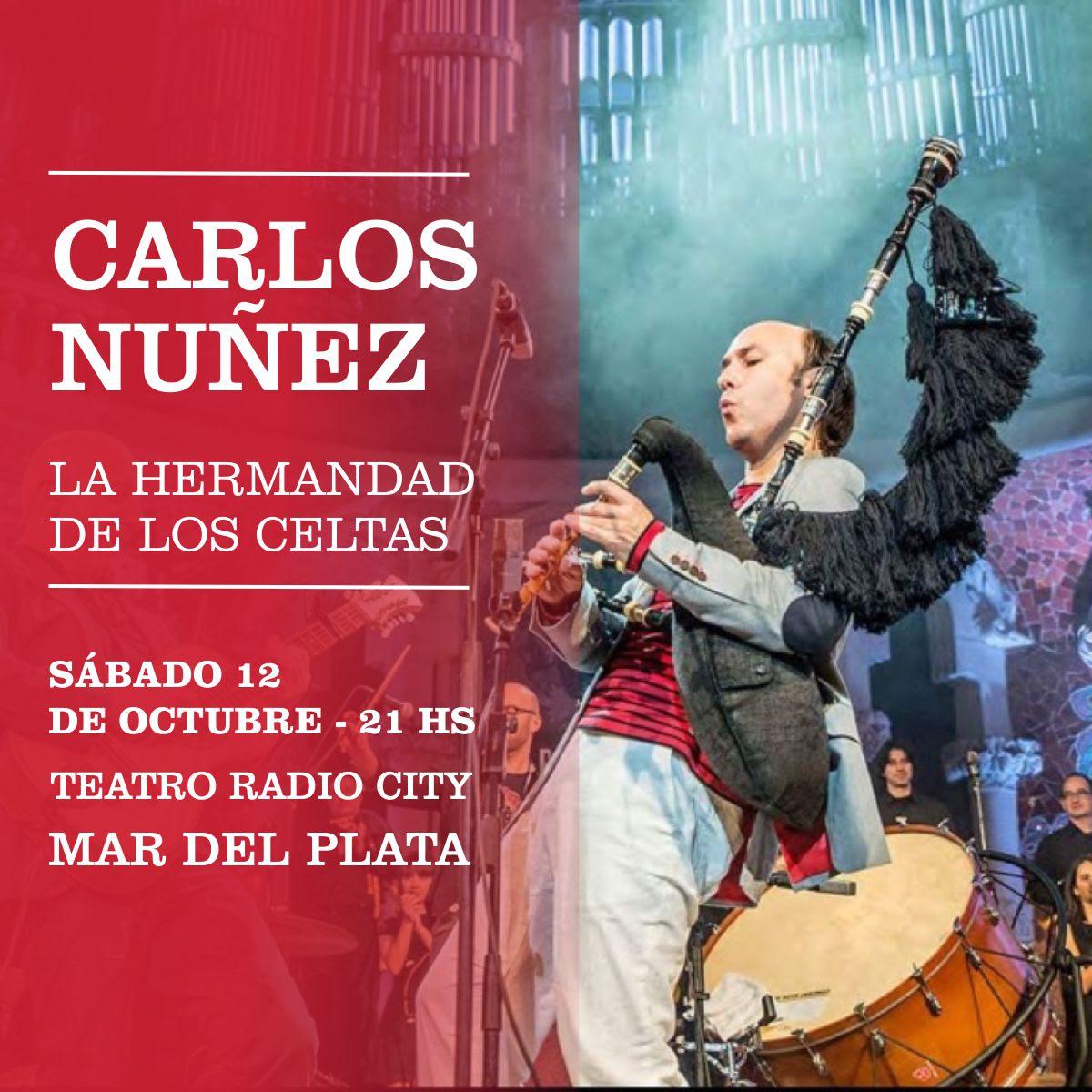 """Carlos Nuñez llega a Mar del Plata con su show """"La hermandad de los Celtas"""""""