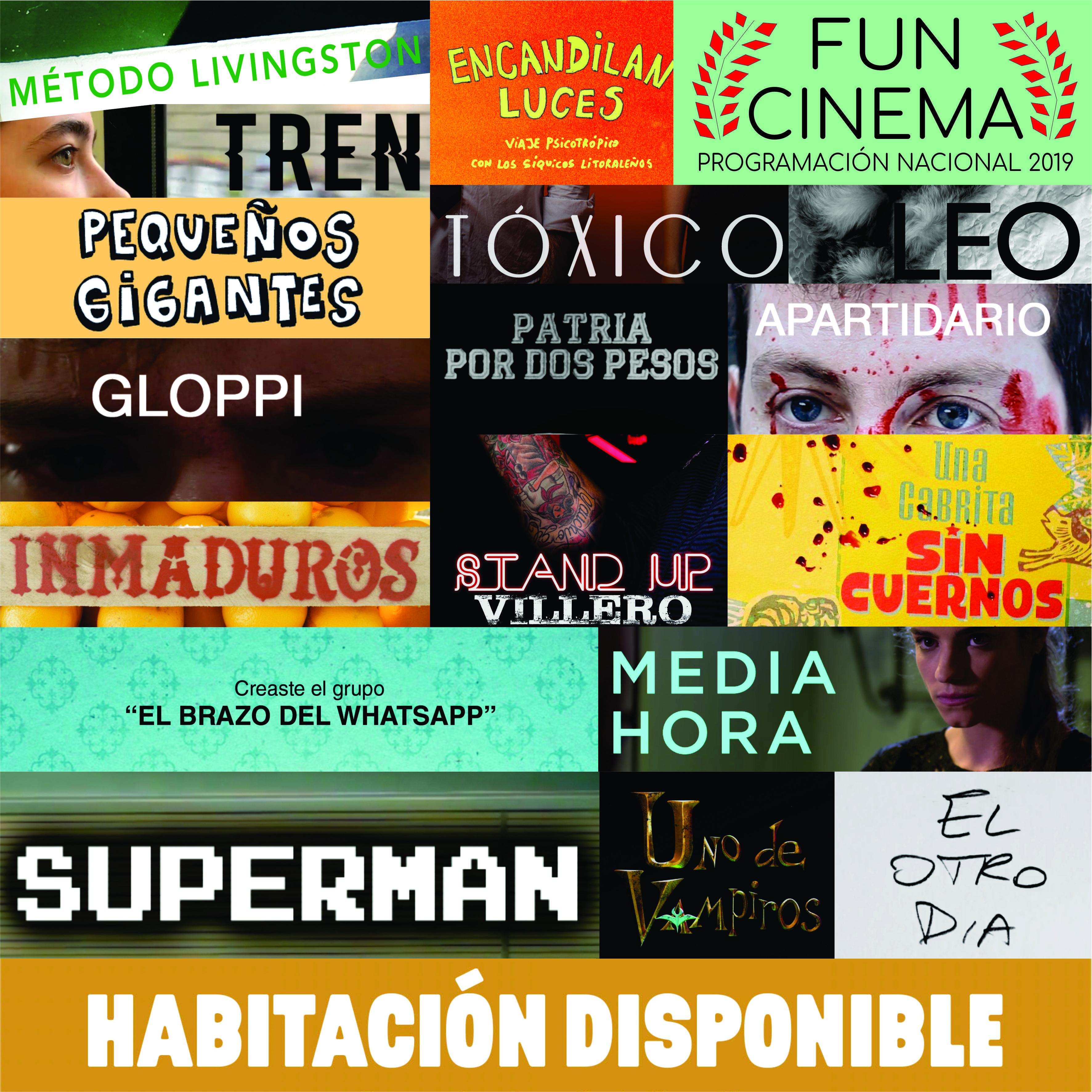18 producciones nacionales se verán en el 6º Funcinema