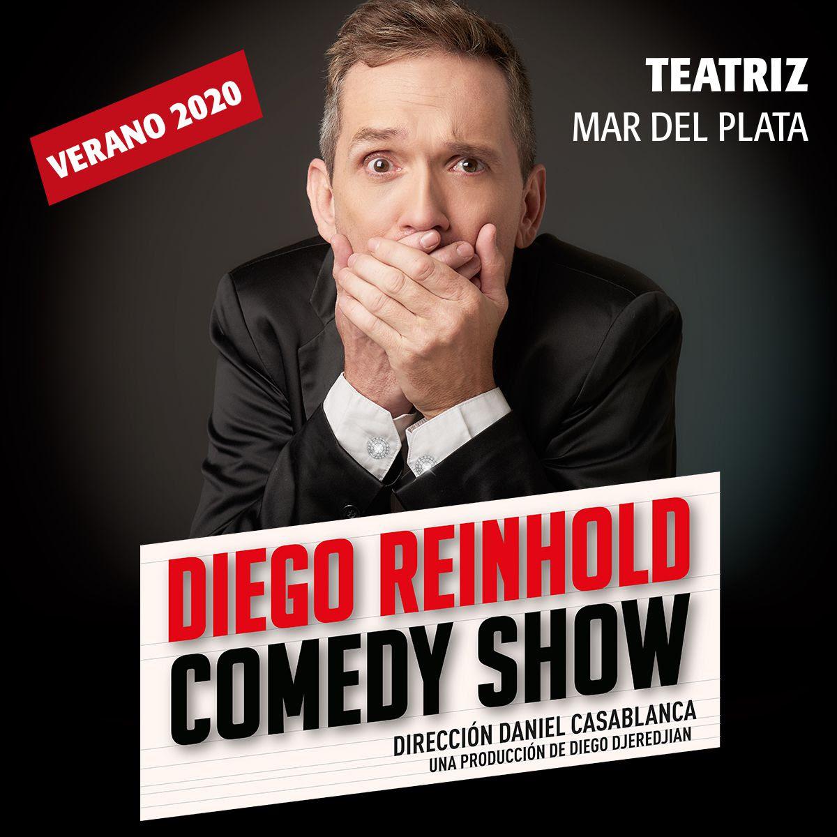 Diego Reinhold llega con su Comedy Show a Mar del Plata