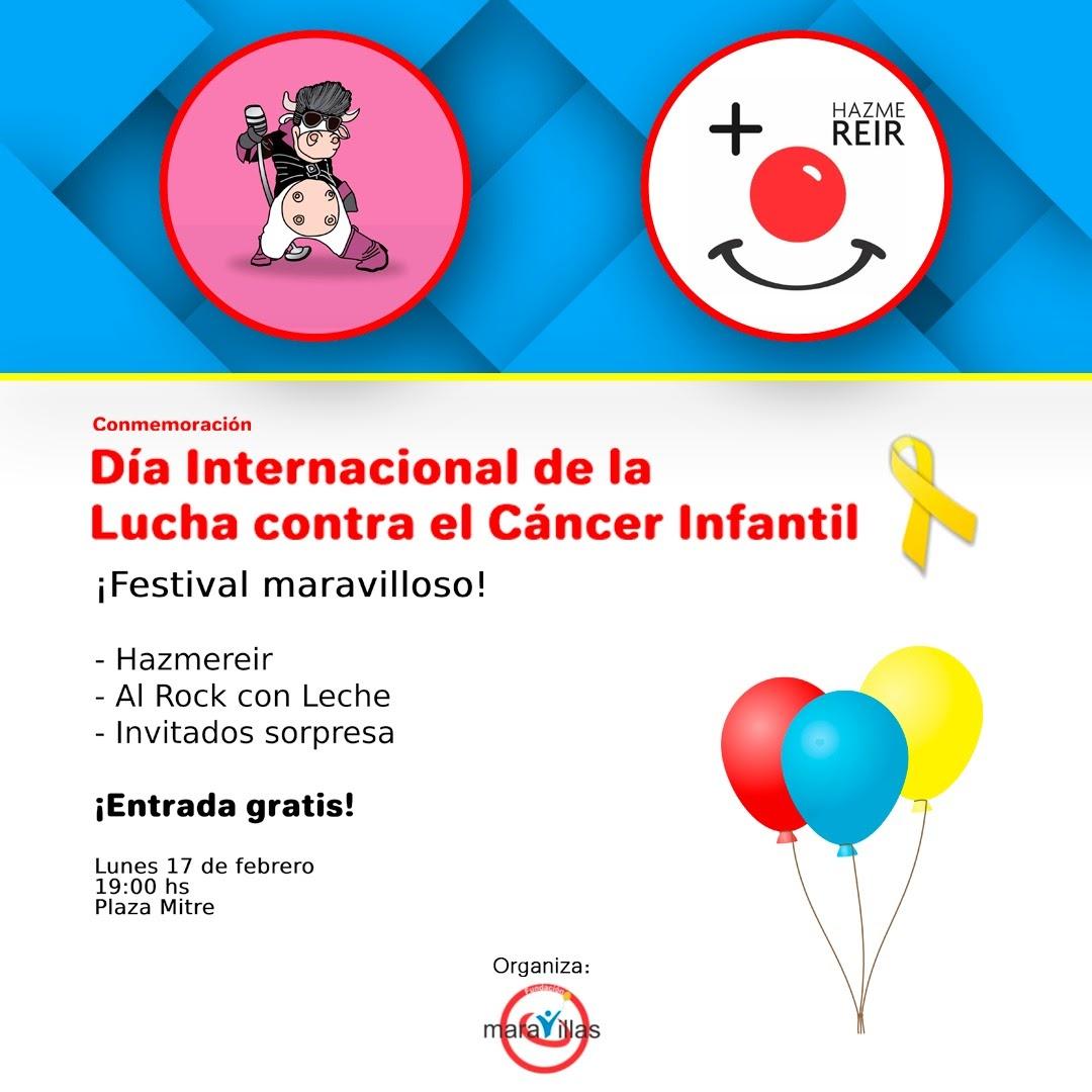 Festival gratuito por el Día de la Lucha contra el Cáncer Infantil