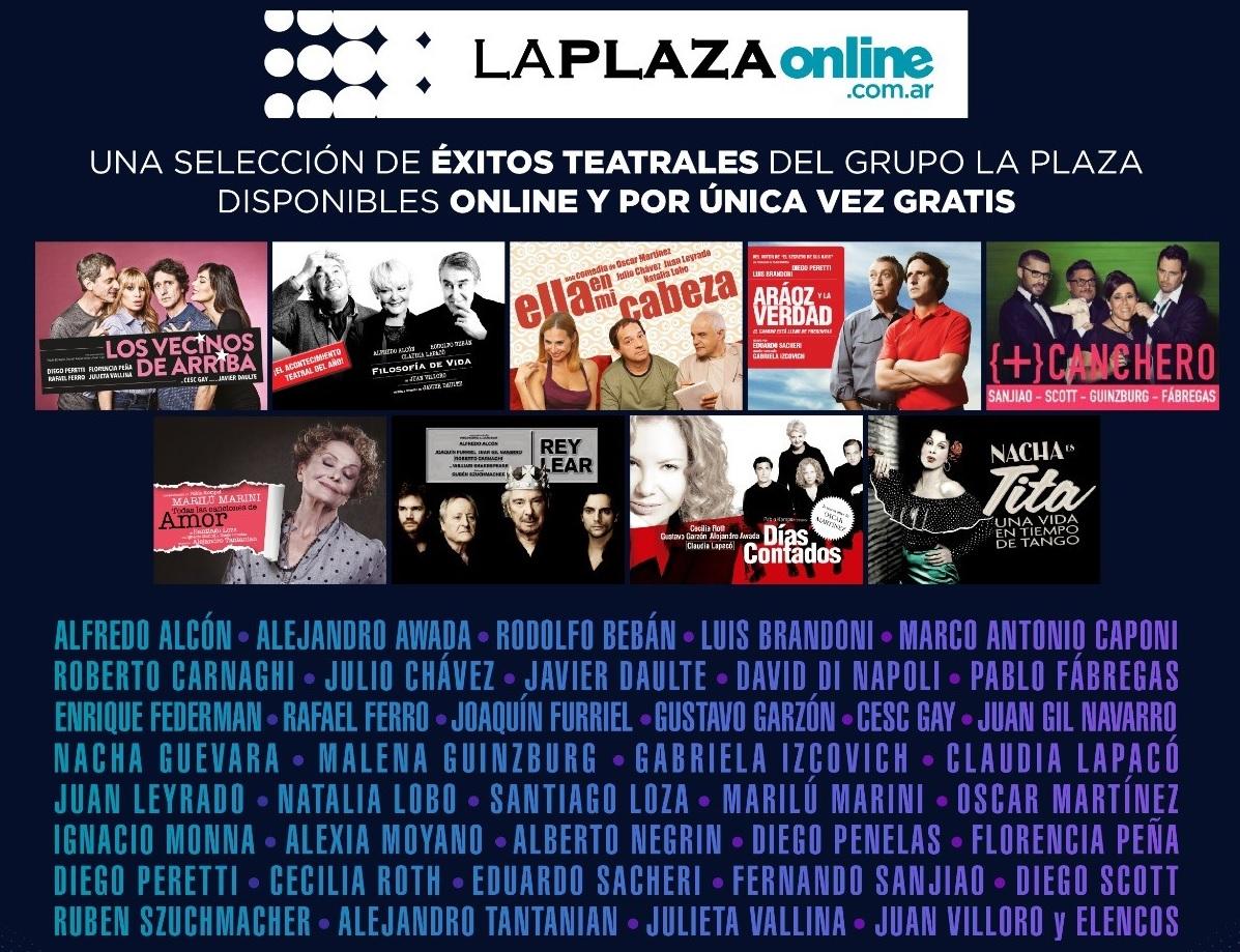 """Prestigiosas obras teatrales en """"La Plaza Online"""""""