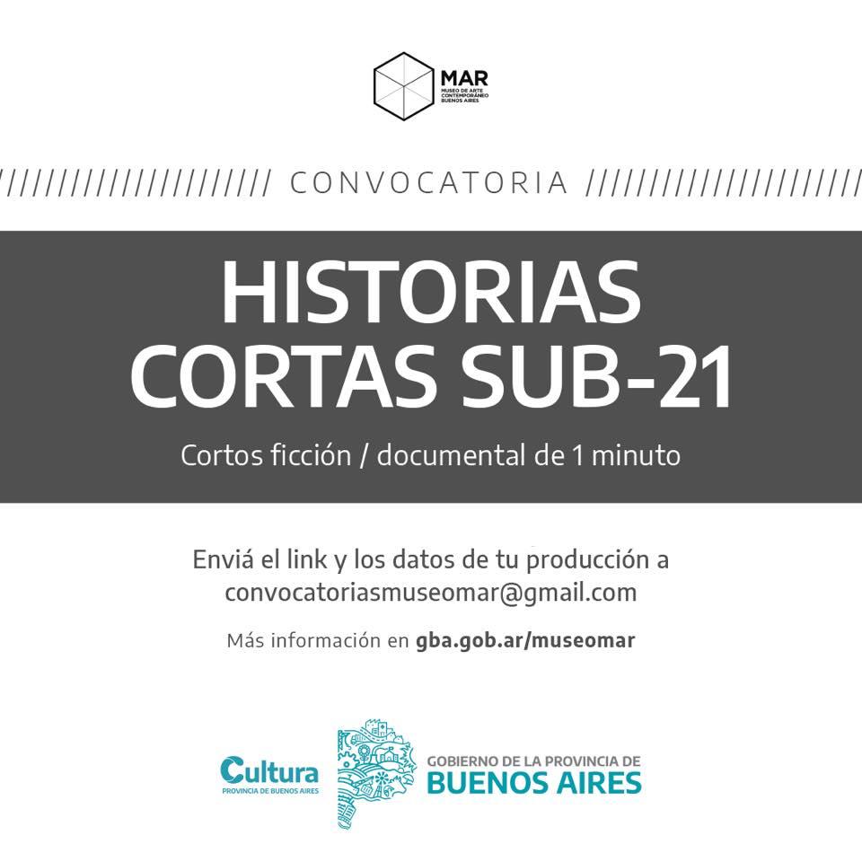 """Convocatoria para """"Historias cortas Sub21"""" del Museo MAR"""