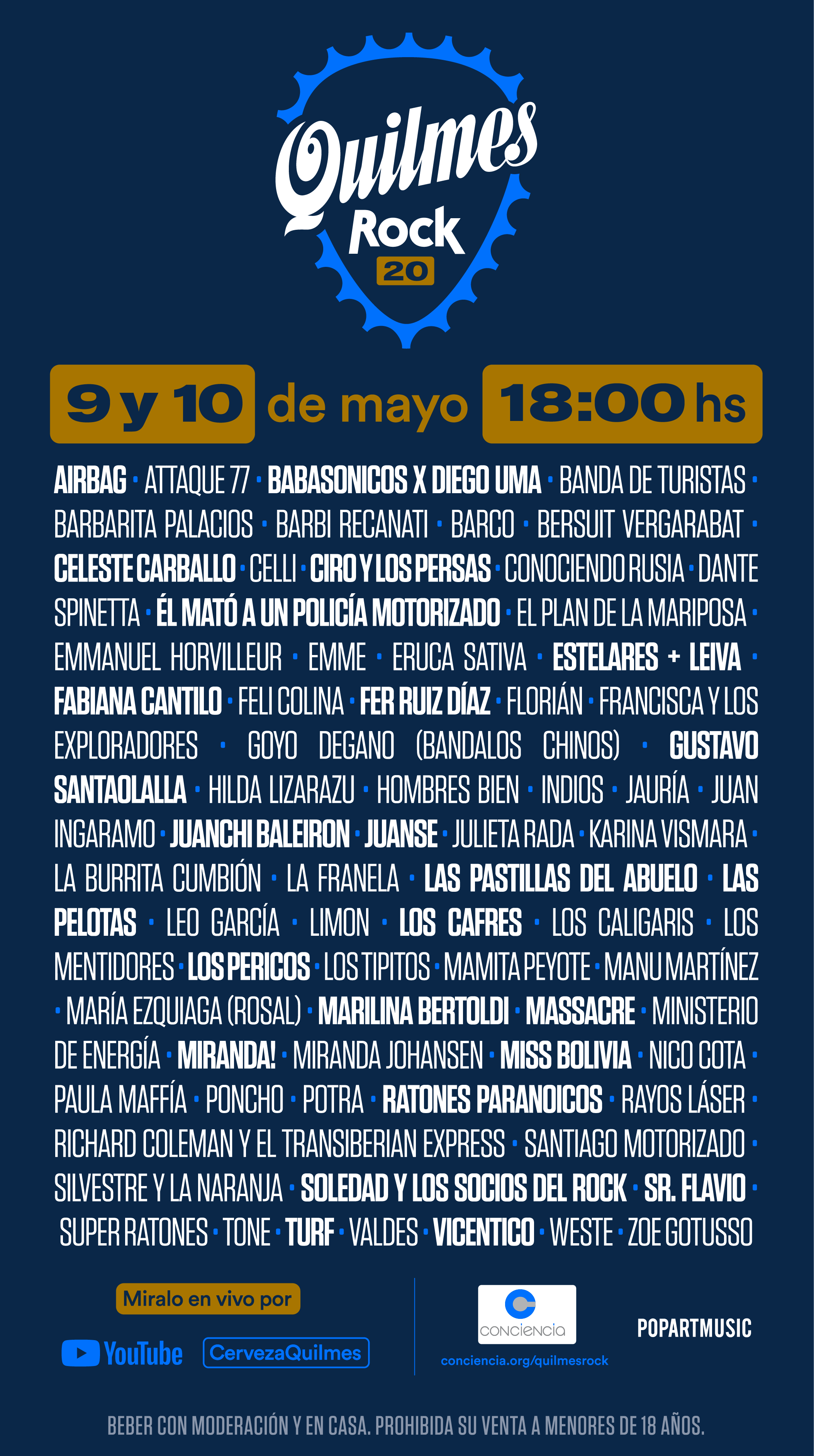 Vuelve el Quilmes Rock con una edición solidaria y vía streaming