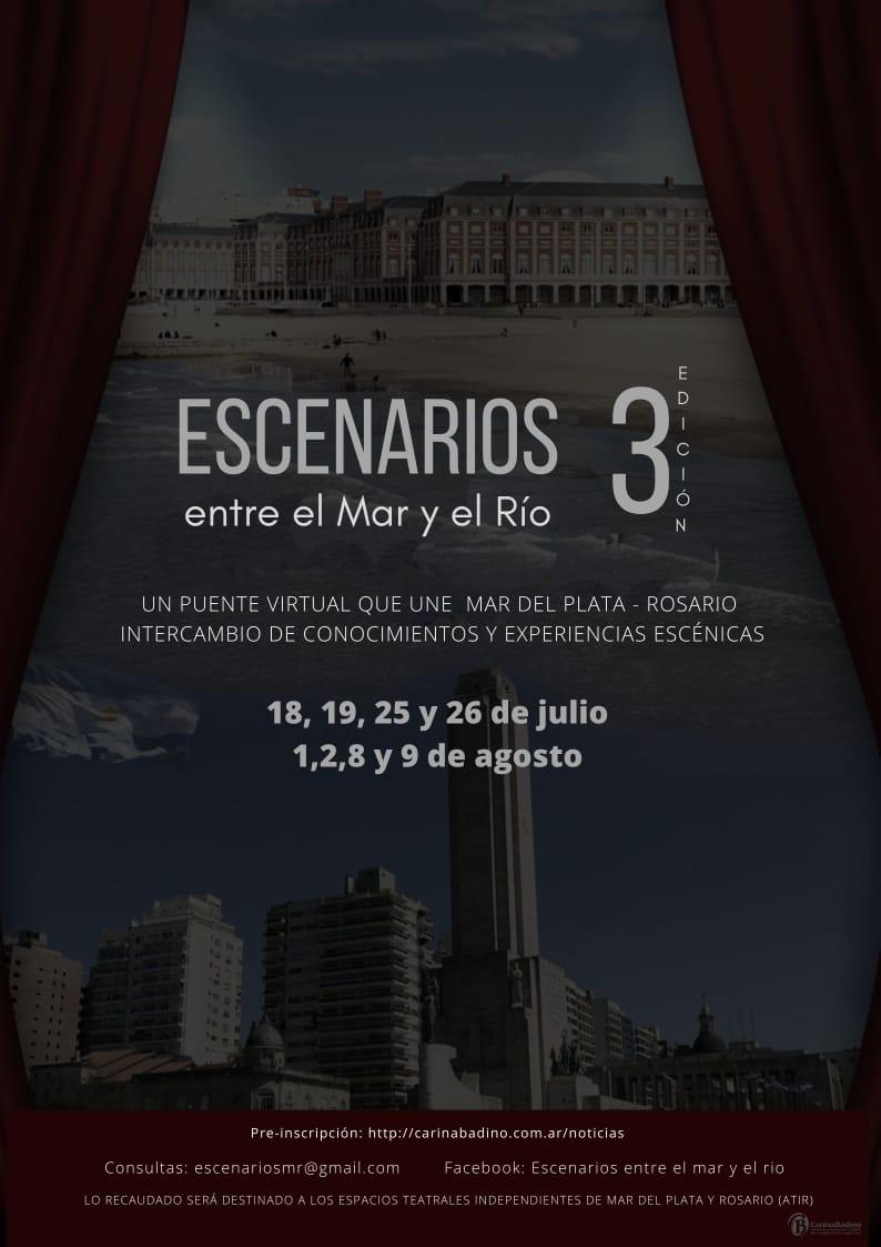 Encuentro virtual entre teatristas de Rosario y Mar del Plata