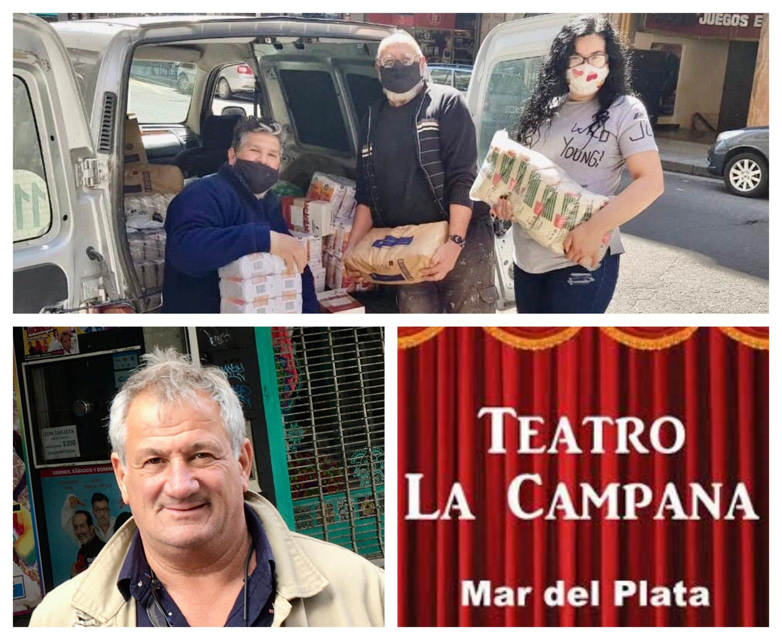 Jornada solidaria en el teatro La Campana