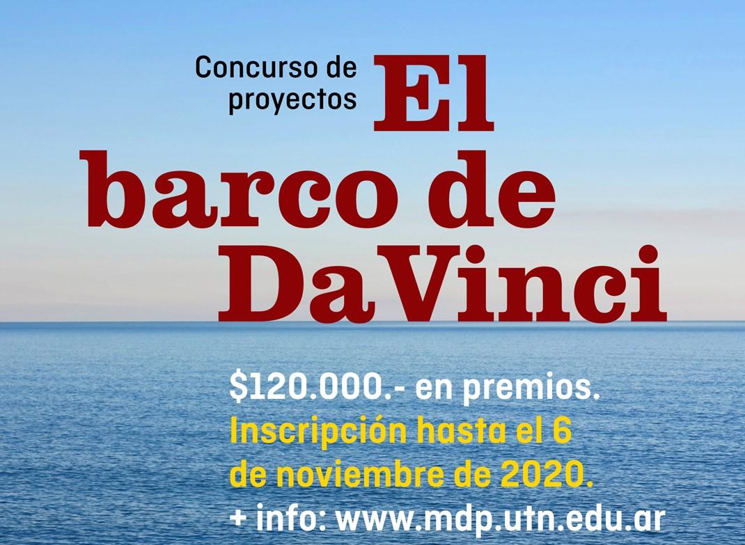 """Con más de 100 mil pesos en premios, un concurso busca """"El barco de Da Vinci"""""""